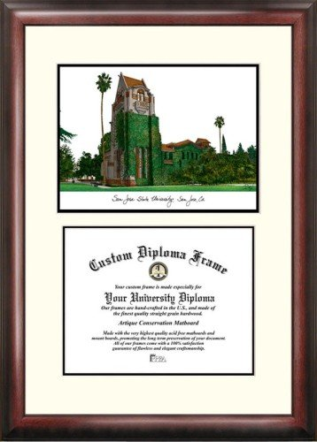 San Jose State University Scholar Framed Lithograph with Diploma
