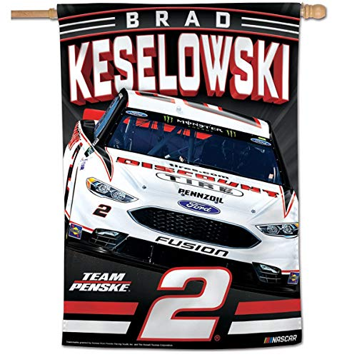 Nascar Red Flag - Wincraft Brad Keselowski NASCAR Banner Flag