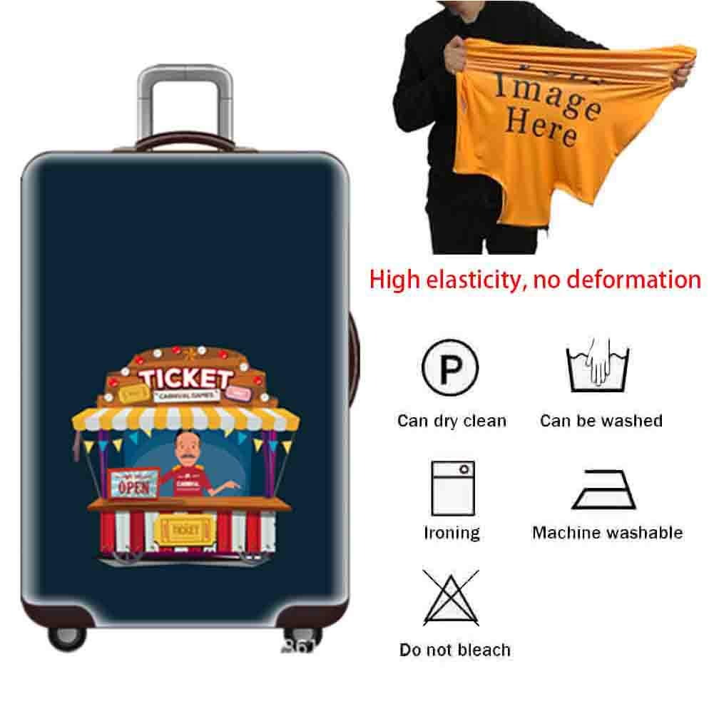 Suitcase Cover Air Layer Elastic Cloth Wear-Resistant Shockproof Luggage Case Protective Sleeve 18-32 Inch Trolley Case Waterproof Dust Cover