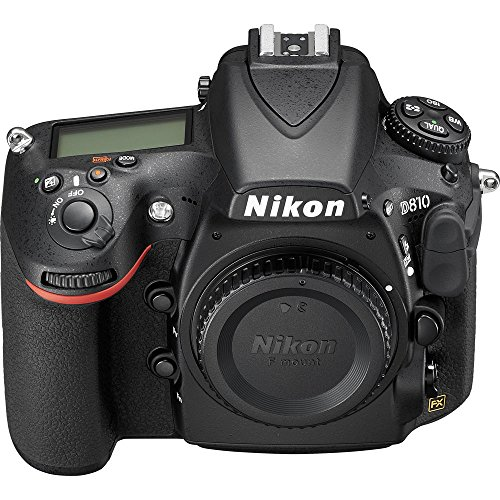 Nikon D810 36.3MP 1080p FX-Format DSLR Camera (Body Only) 1542B + One Year Extended Warranty - (Renewed)