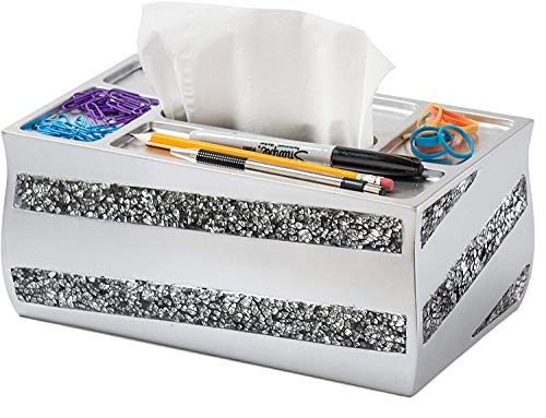 (DWELLZA Tissue Box Cover Rectangular - Decorative Bathroom Tissue Holder (10.25