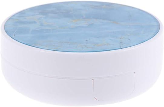 Healifty Estuche para lentes de contacto, modelo de mármol, soporte para lentes de contacto portátiles para el hogar y los viajes (azul): Amazon.es: Salud y cuidado personal