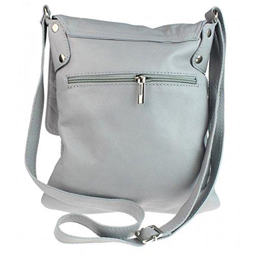 soft Bag Grey Italian Italian Medium Body Green Company Medium Cross Light leather Womens Vera Pelle Genuine Bag Px4daq4