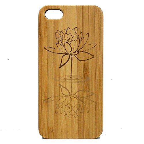 Flower Skin Wood - Lotus Flower iPhone 8 Plus Case/Cover by iMakeTheCase | Bamboo Wood Cover Skin | Water Reflection Yoga Zen | Spiritual Enlightenment Buddhist Awakening