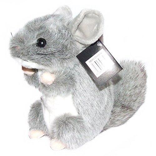 Dowman Soft Touch. Plush Soft Toy Grey Chinchilla 18Cm (Toy Plush Chinchilla)