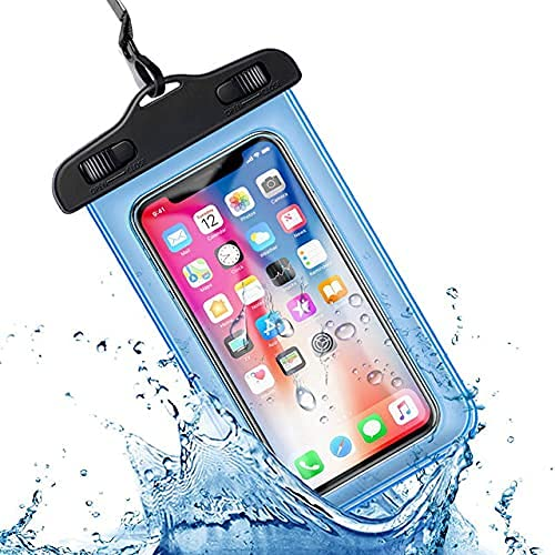 ZUNBELLA Waterproof Mobile Cover Pouch | Cell Phone case | Mobile Cases | Waterproof Phone Pouch for All Mobile Cover, Material TPU & PVC Transparent (Pack of 1 Blue)