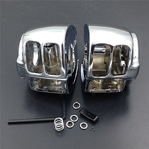 HTT Chrome Switch Housing Cover For 1996-2012 Harley Sportster/ 1996-2012 Harley Dyna/ 1996-2010 Harley Softail/ 2002-2012 Harley V-Rod