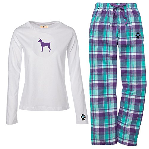 (YourBreed Clothing Company Miniature Pinscher Ladies Flannel Pajamas. Size 2X)