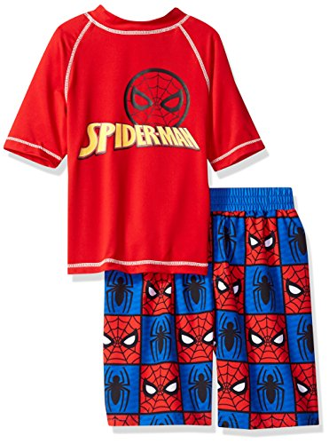 Marvel Little Spider-Man 2-Piece Swim Set, Boys red/Blue, 7