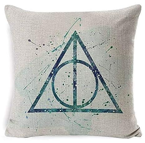 Desconocido Cojín Harry Potter, Ravenclaw, Hufflepuff, Slytherin, Quidditch, Sombrero Seleccionador, Triángulo Reliquias Muerte, Gafas, Mapa ...