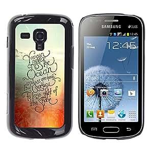 YOYOYO Smartphone Protección Defender Duro Negro Funda Imagen Diseño Carcasa Tapa Case Skin Cover Para Samsung Galaxy S Duos S7562 - la puesta del sol del océano de surf tabla de surf de verano