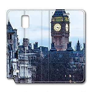iCustomonline Leather Case for Samsung galaxy Note 4, London Street Ultimate Protection Leather Case for Samsung galaxy Note 4