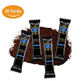 Organic 100% Arabica Instant Coffee Packets (20 Singles) | Premium Single Serve Sticks | Natural, Non-GMO, No Preservatives | To-Go Healthy Coffee Packs for Camping, Travel, At Home Convenience