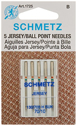 Ball Point Jersey Machine Needles-Size 10/70 5/Pkg