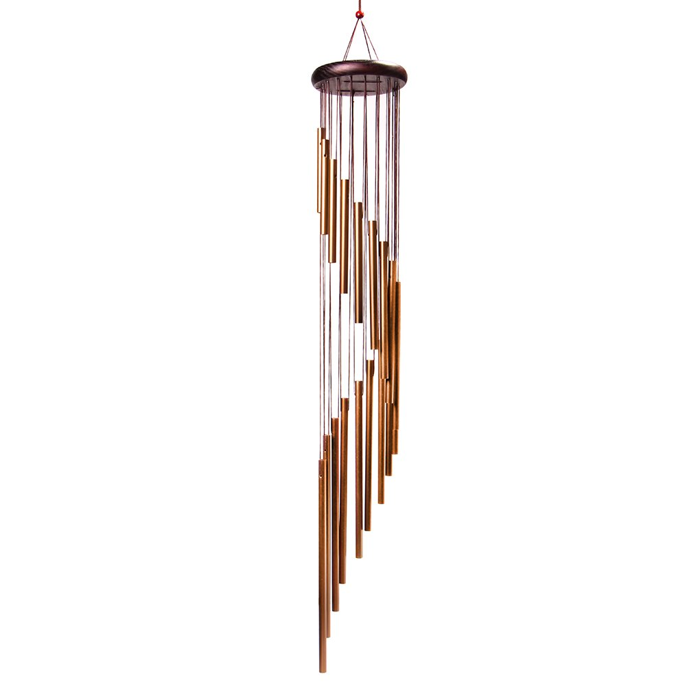 4-FQ Wind Chimes, Windchimes Outdoor Amazing Grace Long Garden Wind Chimes Outdoor Portable Metal Wind Chimes Bells for Home Garden Decoration (Golden)