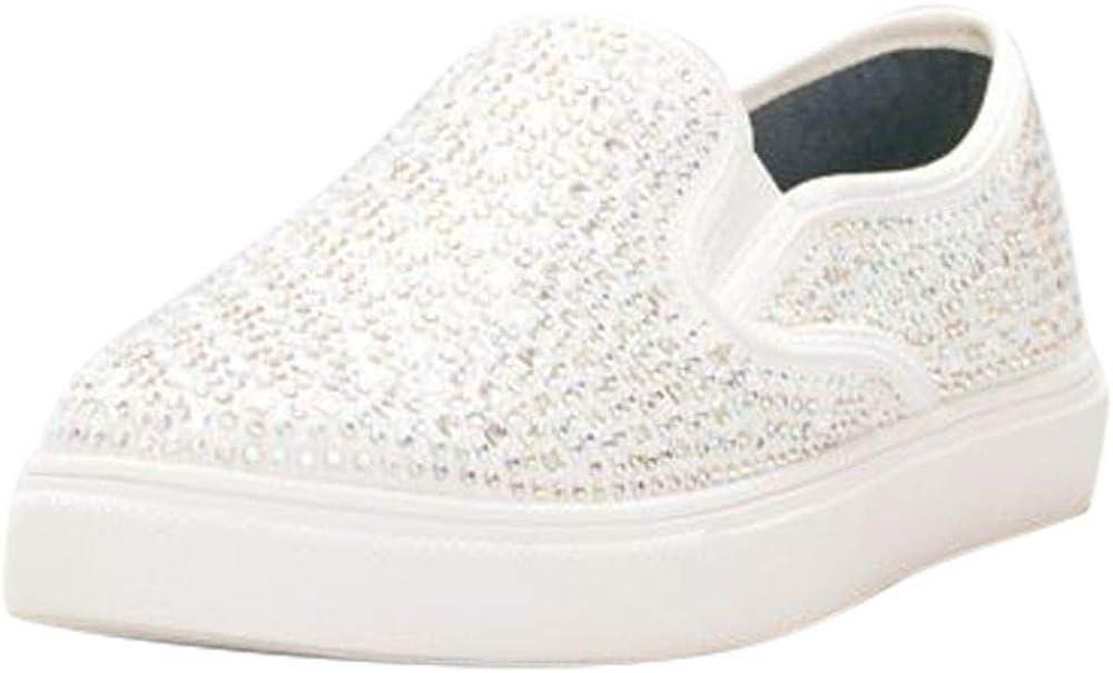 David's Bridal Crystal-Studded Slip-On Sneakers Style Cruz
