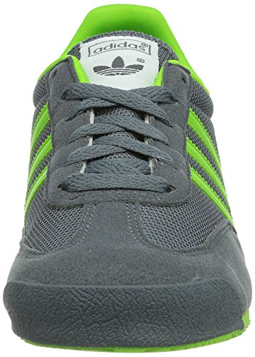 adidas Dragon J - Zapatillas Niños Gris (onix/semi solar green/running white ftw)