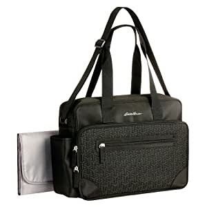 diaper bag eddie bauer quilted black 1 pocket baby. Black Bedroom Furniture Sets. Home Design Ideas