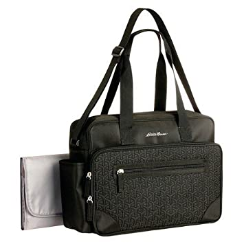 Amazon.com : Diaper Bag Eddie Bauer Quilted Black 1 Pocket : Baby : black quilted diaper bag - Adamdwight.com