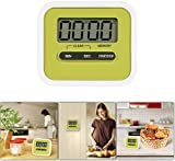GPCT [Mini] Digital [Kitchen Cooking] Timer W/ Loud Alarm & Built in Speaker. LCD Display Countdown/Count-Up Timer, Time Memory Recall Function [Magnetic Retractable Stand] Portable Timer- Green