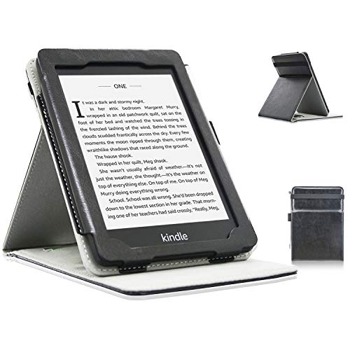 ACdream Kindle Paperwhite Case (10th Generation-2018), Stand Leather Wallet Cover Case for All New and Previous Kindle Paperwhite with Auto Wake Sleep Feather [Bonus Stylus], Black