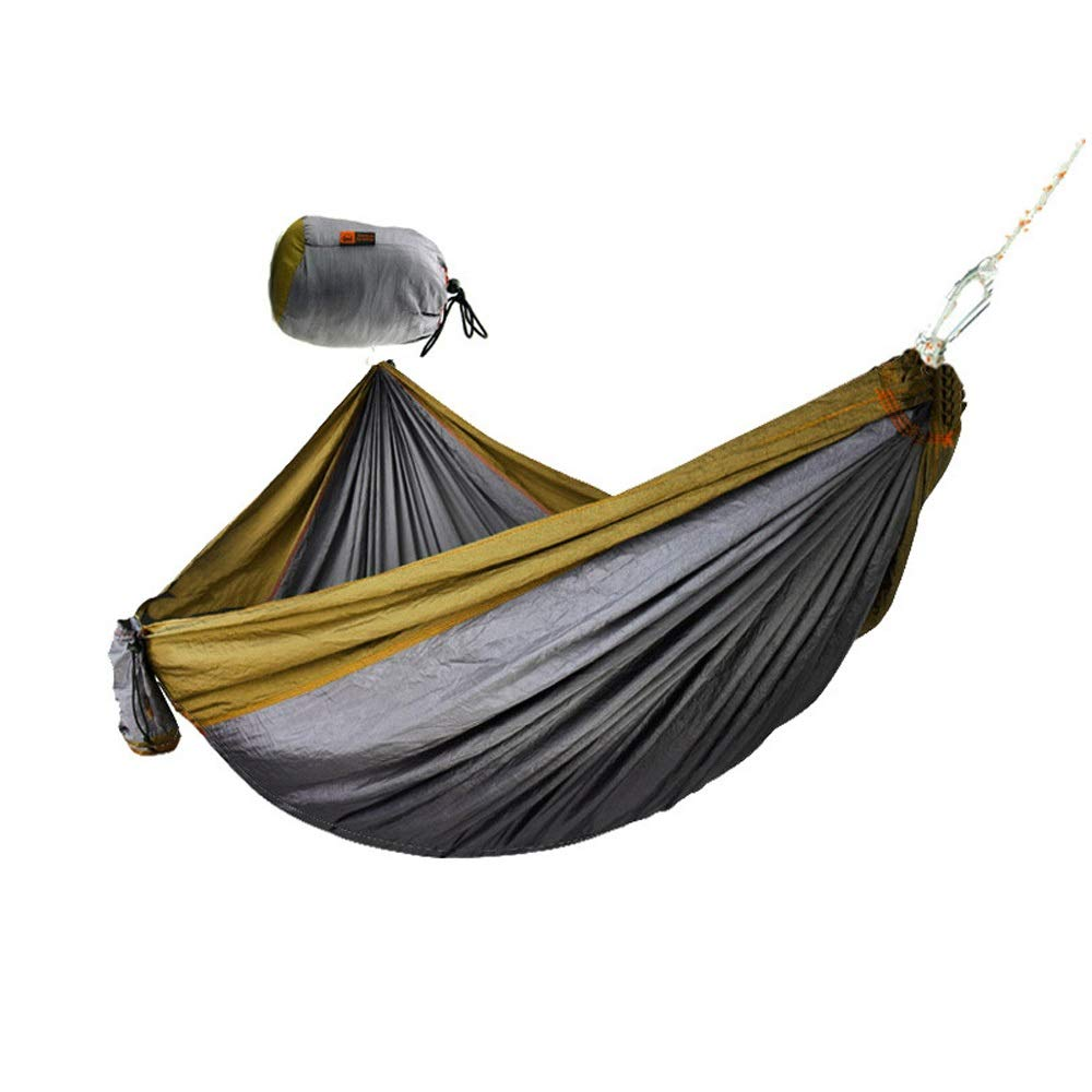 DERTHWER Outdoor Camping Hammock Outdoor Parachute Cloth Hammock Camping Swing 300x180 Double Widened Hammock Quality and Affordable Outfitters (Color : E, Size : 300cm x 180cm) by DERTHWER