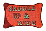 Manual Saddle Up and Ride 12.5 x 8.5-Inch Decorative Throw Pillow