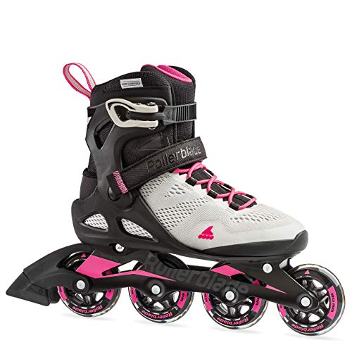Rollerblade Macroblade 80 Women's Adult Fitness Inline Skate, Cool Grey/Candy Pink, 10 (Renewed)