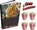 Delizioso Microwave Popcorn Popper - 5 Stars BPA Free + 2 Gifts: 4 Popcorn Boxes And Popcorn Recipes E-Book (Blue)