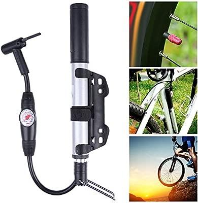 shuisyxiang Bomba para Bicicleta, Bomba de Bicicleta con Manómetro ...