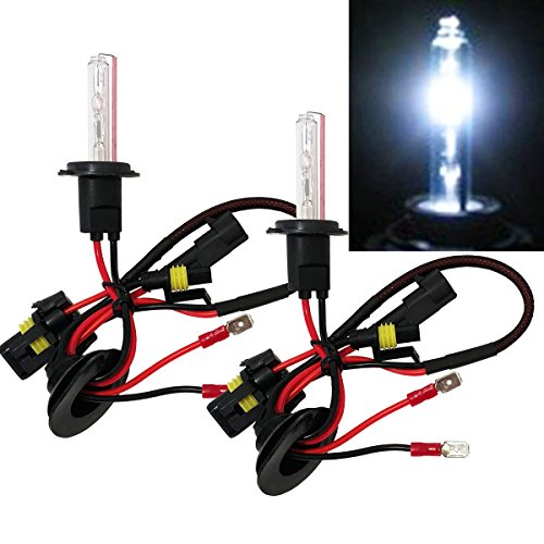 Motorcycle H7 Xenon HID Conversion Bulb 8000K Sky Blue Light (Replace Low or High Beam Headlight) - Need Ballast to Work