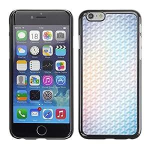 Be Good Phone Accessory // Dura Cáscara cubierta Protectora Caso Carcasa Funda de Protección para Apple Iphone 6 Plus 5.5 // Yellow 3D Polygon White Minimalist Clean