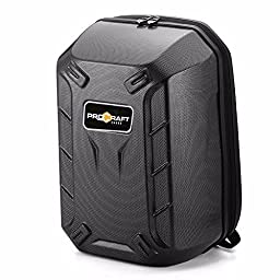 ProCraft Pro-Hard-shell-Carbon DJI Phantom 4 Hard-shell Backpack Travel Case Bag, Turtle Shell Quadcopter Drone Hard Shell Carbon