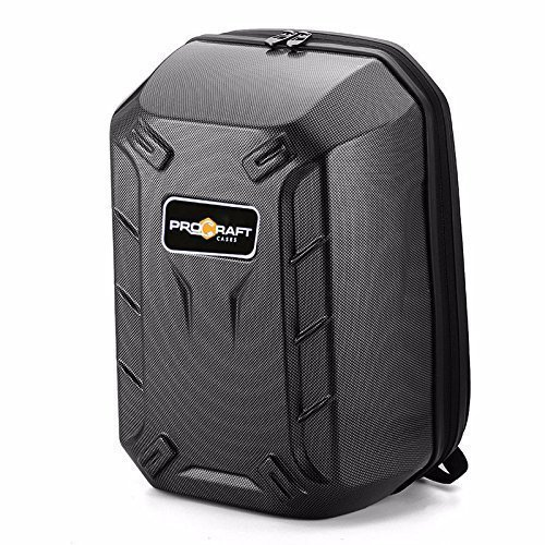 ProCraft Pro-Hard-shell-Carbon DJI Phantom 4 Hard-shell Backpack Travel Case Bag, Turtle Shell Quadcopter Drone Hard Shell Carbon
