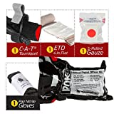 Police Department IPOK''Individual Patrol Officer Kit'' Bleed Control Package w/CAT Tourniquet and S-Rolled Gauze (6 Pack) (S-Rolled Gauze)