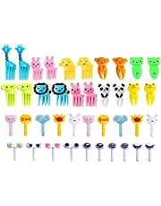 Animal Food Picks for Kids,Cute Cartoon Animal Fruit, Dessert Toothpick, Mini Cartoon Toothpick Suitable for Family, Restaurant and Party