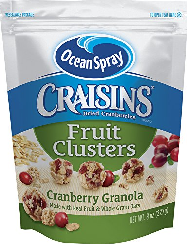 Ocean Spray  Craisins Fruit Clusters, Cranberry Granola, 8 Ounce