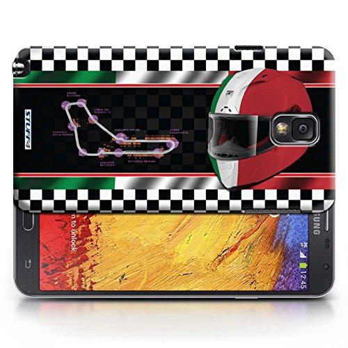 Etui / Coque pour Samsung Galaxy Note 3 / Italie/Monza conception / Collection de F1 Piste Drapeau