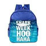 KIDDOS Infant Toddler Kids Shark Week HOO HAHA Backpack Satchel School Book Bag, RoyalBlue