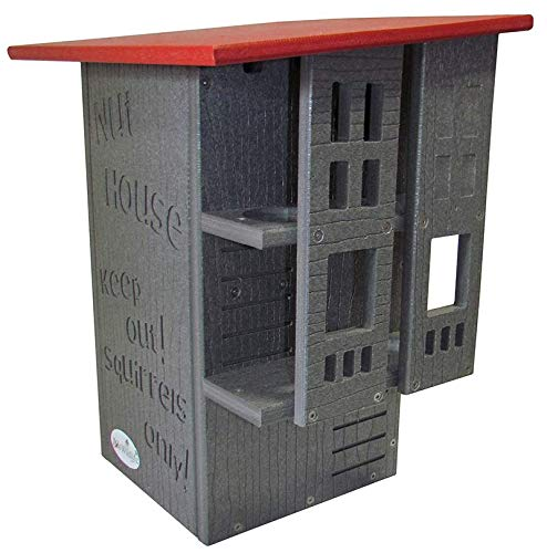 JCs Wildlife Ultimate Squirrel House Nesting Box (Red/Gray) by JCs Wildlife (Image #1)