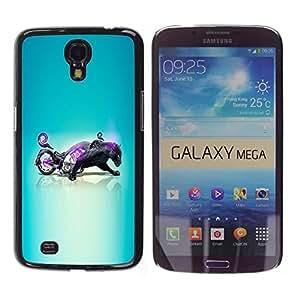 """For Samsung Galaxy Mega 6.3 , S-type Negro Pantera motocicleta híbrida"""" - Arte & diseño plástico duro Fundas Cover Cubre Hard Case Cover"""