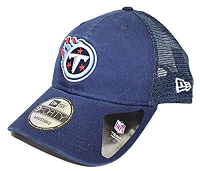 """New Era 9Forty Tennessee Titans NFL """"Trucker Washed"""" Adjustable Hat - Navy"""