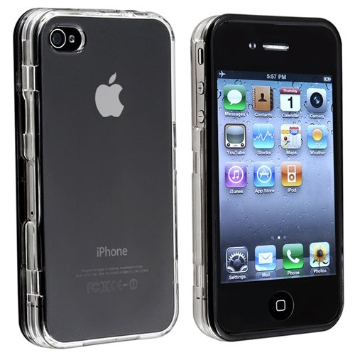 Touchable Crystal Case - eForCity Touchable Hard Case for Apple iPhone 4/4S - Retail Packaging - Transparent