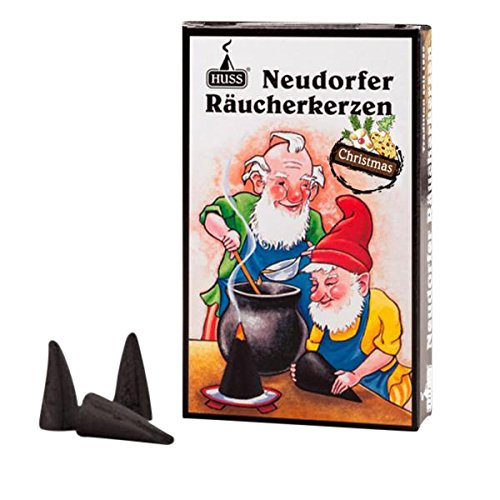 HUSS Incense Cones for German Incense Smoker - Christmas Scent - Eco-Friendly Handmade in Germany (Christmas Incense Cones)