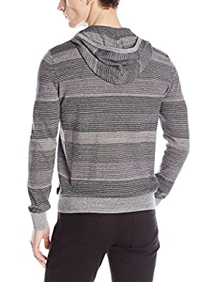 Calvin Klein Men's Cotton Space-Dyed Striped Hoodie Sweater