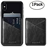 Phone Card Holder Aroko Silicone 3M Adhesive Stick-on ID Credit Card Wallet Phone Case Pouch Sleeve Pocket for Most of Smartphones(iPhone/Android/Samsung Galaxy) (Green28)