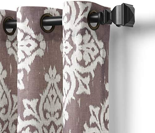 Elrene Home Fashions 26865796346 Grommet Top Linen Look Single Panel Window Curtain Drape - the best window curtain panel for the money
