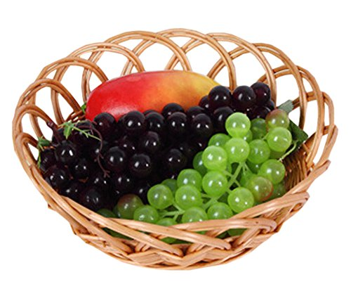 Creative Art Wicker Basket Fruit Basket Bread Tray Storage Basket, Set of 1 (Creative Fruit Baskets)