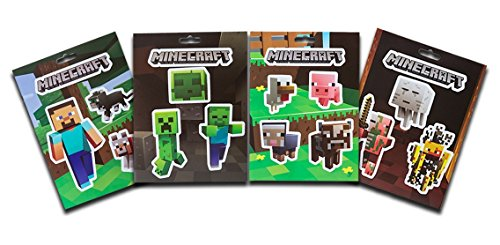 Minecraft Jinx Sticker Party Pack- 4 Sheets/ 17 Stickers (Party Minecraft)