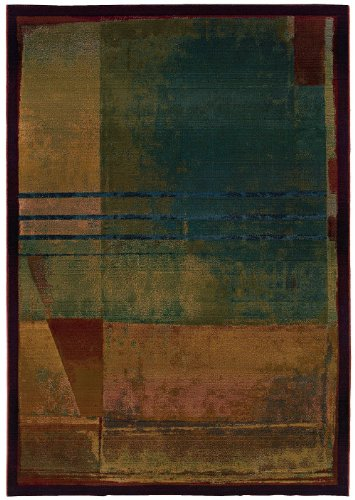 Oriental Weavers Contemporary Rectangle Area Rug 2'x3' Red-Green Kharma II Collection